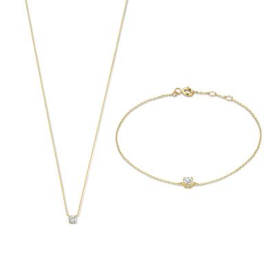 Isabel Bernard Cadeau d'Isabel 585er Goldkette und Armband Geschenkset IB90029