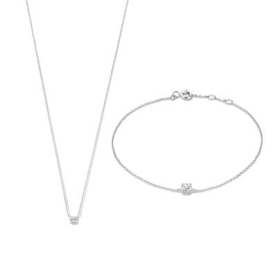 Isabel Bernard Cadeau d'Isabel 585er Weißgold Kette und Armband Geschenkset IB90030