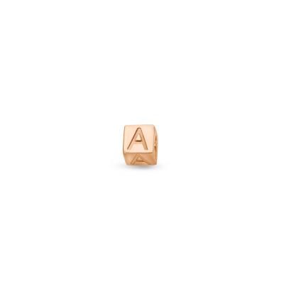 Isabel Bernard La Concorde Felie 14 Karaat Rosé Gouden Enkele Initial Oorknop IB360079 (Letter: A-Z)