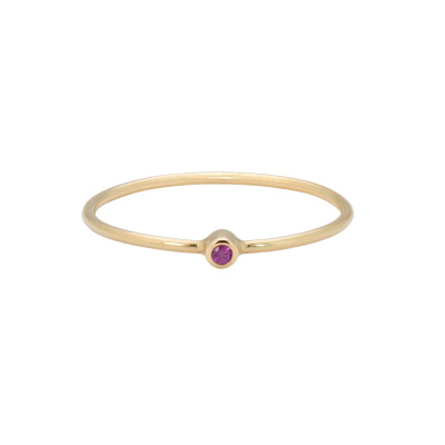 ANNA + NINA 14 Karaat Gouden Solid Gold Birthstone July Ring 19-3M908019G