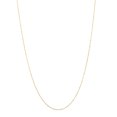 ANNA + NINA 925 Sterling Zilveren Kahlo Plain Ketting XL 21-1M903006GP