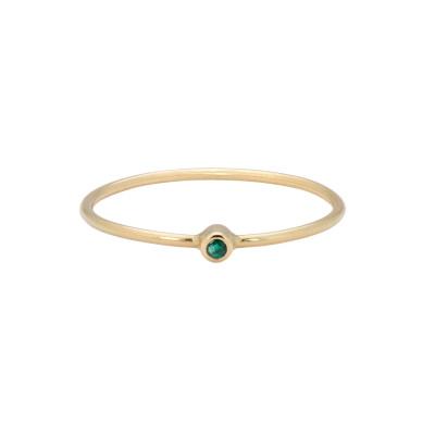 ANNA + NINA 14 Karaat Gouden Solid Gold Birthstone May Ring 19-3M908013G