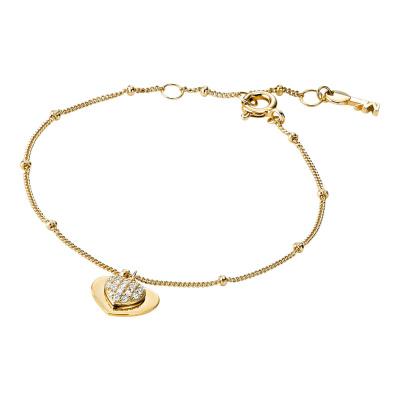 Michael Kors Zilveren Goudkleurige Love Armband MKC1118AN710 (Lengte: 15.00-17.50 cm)