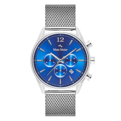 Mats Meier Grand Cornier Chrono Blauw/Zilverkleurig horloge MM00115