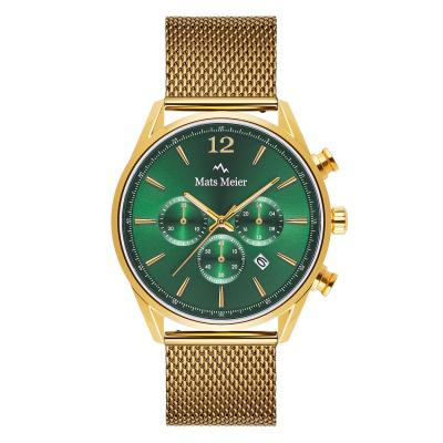 Mats Meier Grand Cornier Chrono Groen/Goudkleurig horloge MM00119