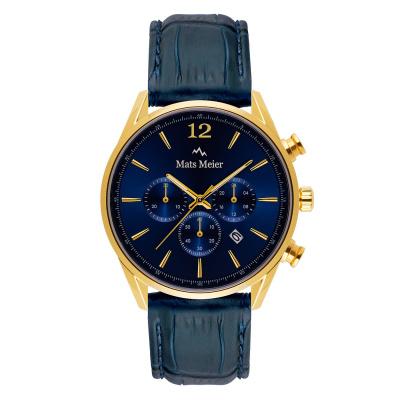 Mats Meier Grand Cornier Chrono Blauw/Blauw horloge MM00123