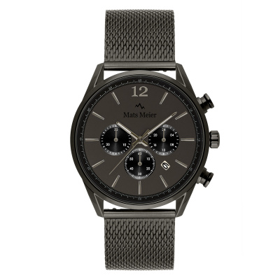 Mats Meier Grand Cornier Chrono Gunmetal horloge MM00125