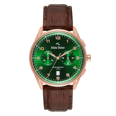 Mats Meier Mont Vélan Chrono Groen/Bruin horloge MM10002