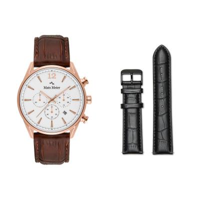 Mats Meier Grand Combin Herenhorloge En Horlogeband Giftset MM90010