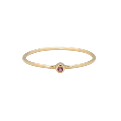 ANNA + NINA 14 Karaat Gouden Solid Gold Birthstone October Ring 19-3M908028G
