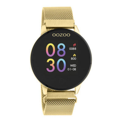 OOZOO Goud/Zwart Display Smartwatch Q00121
