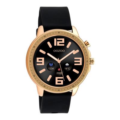 OOZOO Zwart/Roségoudkleurig Display Smartwatch Q00303