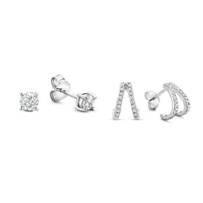 Selected Jewels Selected Gifts 925 Sterling Silber Satz Ohrringe SJSET1330074
