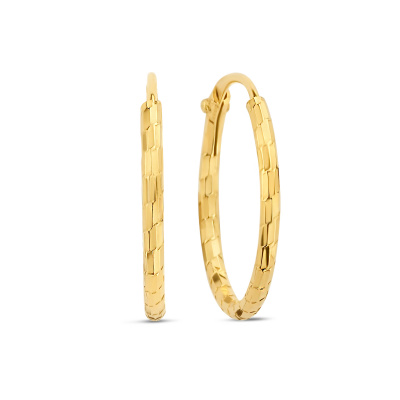 Selected Jewels Zoé 925 sterling zilveren goudkleurige creolen SJ360011