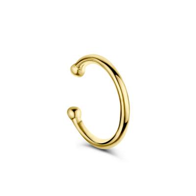 Selected Jewels Léna Joy 925 Sterling Silber goldfarbenes einzelnes Ear Cuff SJ370004