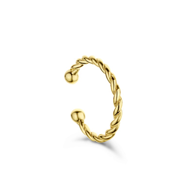 Selected Jewels Léna Joy 925 Sterling Silber goldfarbenes einzelnes Ear Cuff SJ370005