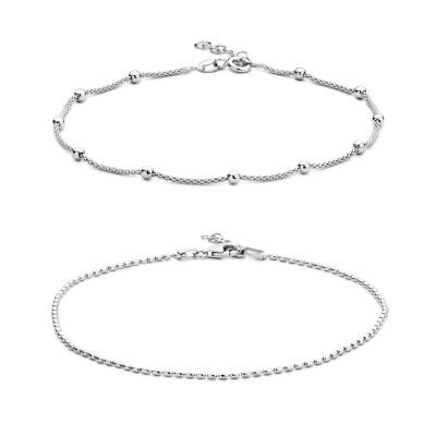 Selected Jewels Selected Gifts 925 sterling zilveren set enkelbandjes SJSET1330079