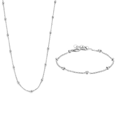 Selected Jewels Selected Gifts 925 sterling zilveren set ketting en armband SJSET1330083