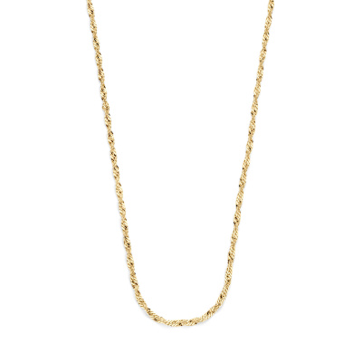 Selected Jewels 925 Sterling Zilverenen Goudkleurige Suus Ketting SJ0210211 (Lengte: 45.00 cm)