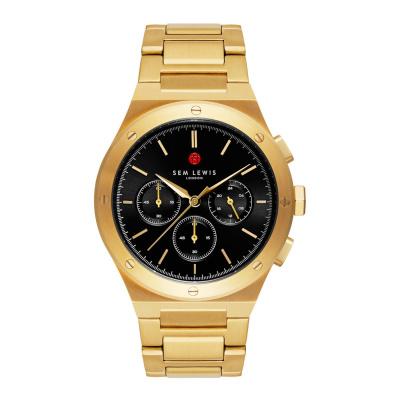 Sem Lewis Moorgate Chronographenuhr goldfarben und schwarz SL1100049