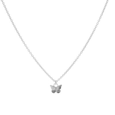 Karma 925 Sterling Zilveren Butterfly Ketting T230 (Lengte: 38.00-45.00 cm)
