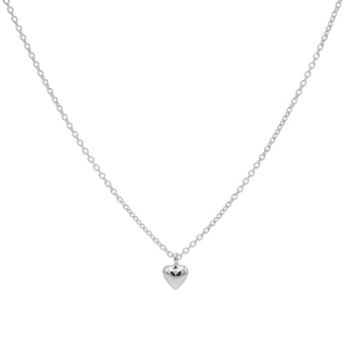 Karma 925 Sterling Zilveren 3D Heart Ketting T245 (Lengte: 38.00 - 45.00 cm)