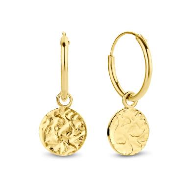 Violet Hamden Luna 925 Sterling Silber goldfarbenes Creolen VH16034