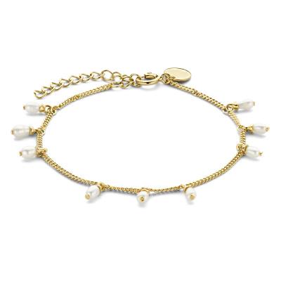 Violet Hamden Luminous Lake 925 Sterling Zilveren Goudkleurige Armband VH170004