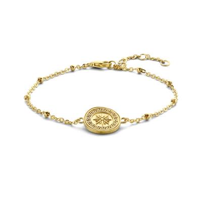Violet Hamden Athens 925 Sterling Zilveren Goudkleurige Armband VH320001 (Lengte: 16.00-19.00 cm)