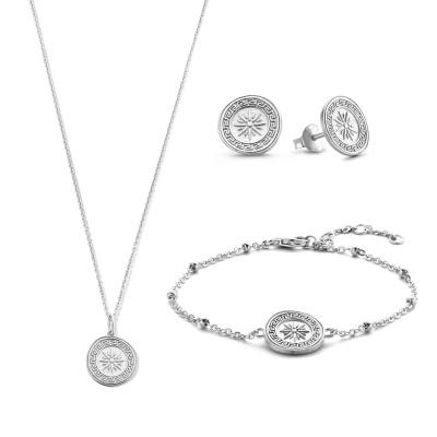 Violet Hamden Violet's Gift 925 Sterling Silber Set Kette Armband und Ohrstecker VH90032