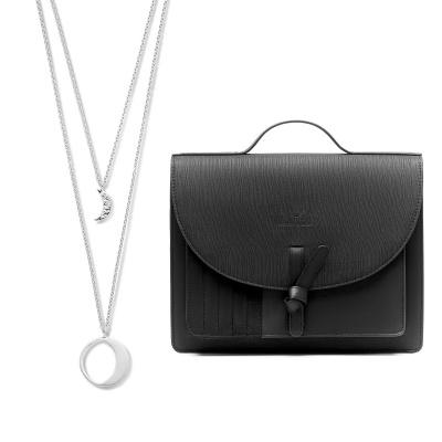Violet Hamden Violet's Gift 925 Sterling Silber Kette und schwarzer Crossbody VH90034