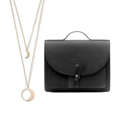 Violet Hamden Violet's Gift 925 Sterling Silber Kette und schwarzer Crossbody VH90035