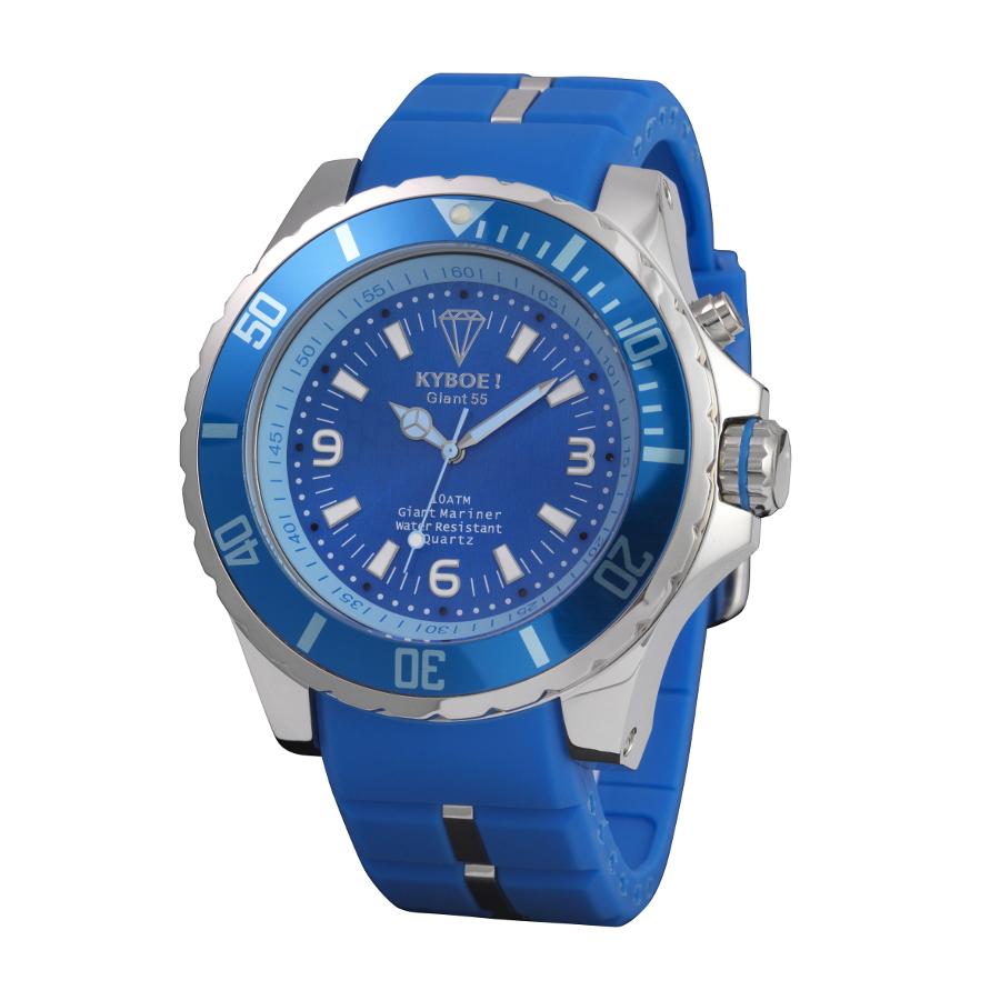 Artikel klicken und genauer betrachten! - Die KYBOE! Silver Series Uhr KY-035 (48mm)ist eine trendy und modische Analog Damen und Herren uhr. Das armband ist aus Silikon in de Farbe Blau. Die Damen und Herren uhr hat ein Quartz-Uhrwerk miet einem Ziffernblatt in der Farbe Blau,Weiß. Das Gehäuse ist und hat einen durchmesser von 48 mm mit Farbe Blau,Silber.   im Online Shop kaufen