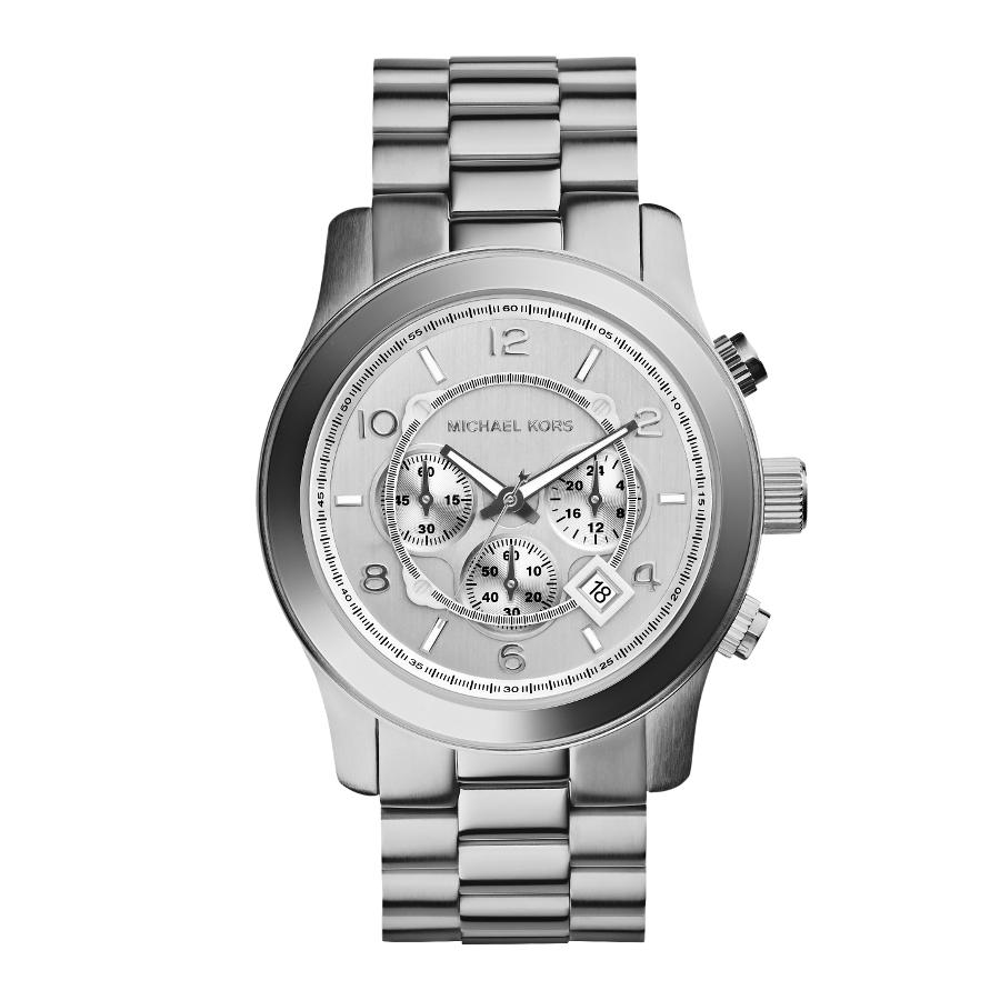 Artikel klicken und genauer betrachten! - Die Michael Kors Uhr MK8086ist eine trendy und modische Analog Herren uhr. Das armband ist aus Edelstahl in de Farbe Silber. Die Herren uhr hat ein Quartz-Uhrwerk miet einem Ziffernblatt in der Farbe Silber. Das Gehäuse ist Edelstahl und hat einen durchmesser von 45 mm mit Farbe Silber. | im Online Shop kaufen